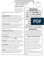 newsletter week of 9-23-13