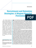 Recruitment and Retention Strategies-A Magnet Hospital Prevention Model