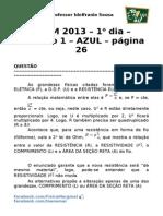 ENEM2013 - comentário - prova azul