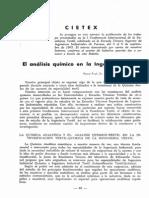 El análisis químico Ingeniería Textil
