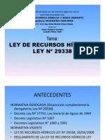 LEY Nº 29338 RECURSOS HÍDRICOS