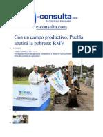25-10-2013 e-consulta.com - Con un campo productivo, Puebla abatirá la pobreza, RMV