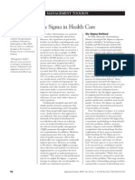Six Sigma in Health Care