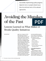Avoiding the Mistakes of the Past - A Casestudy