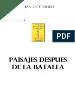 Goytisolo Juan - Paisajes Despues de La Batalla