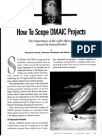 How To Scope DMAIC Projects