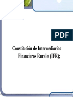 Guía básica de Intermediarios Financieros Rurales