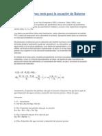 Método de la línea recta para la ecuación de Balance de Materiales
