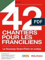Dossier-Presse 42 Chantiers Pour Les Franciliens-19 Juillet 2013v5