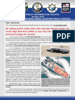 EUNAVFOR Yachting Piracy Bulletin