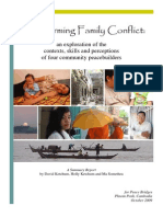 Transforming Family Conflict in Cambodia, Summary Report