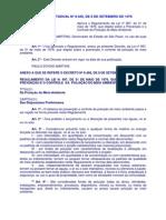 DECRETO ESTADUAL SP Nº 8468, DE 8 DE SETEMBRO DE 1976_Dispoe sobre a Prevencao e Controle da Poluição do Meio Ambiente