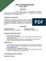 CONCURSO  DE PROGRAMACIÓN SINA-PUCE 2013 Reglamento (1)