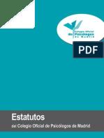 Estatutos Del Colegio de Psicologos de Madrid