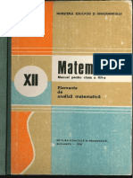 Cls 12 Manual Analiza Matematica XII 1990