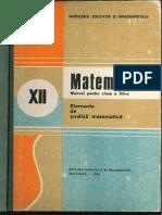 Cls 12 Manual Analiza Matematica XII 1990
