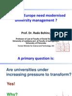 Why does Europe need modernised university management  ¿¿¿