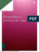 Biopolítica o la crísis del Estado Moderno - Ivan Carrión