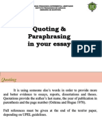 3. Quoting & Paraphrasing