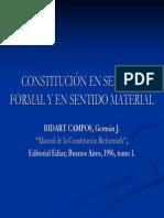 Constitución en sentido formal y material