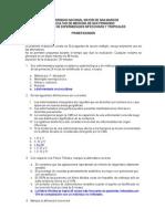 Examen de Enfermedades Infecciosas y Tropicales, Preg y Resp