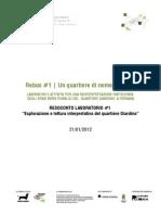 CANTIERE VERDE | Progetto Rebus | RESOCONTO LAB #1