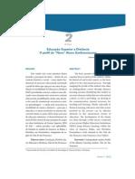 Educação Superior a Distância - o perfil do novo aluno sanfranciscano (artigo publicado) ABED