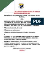 Ejemplo de Libreto Juego Inaguracion Juegos 2012