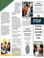 el program options brochure - secondary 2013-08-05 english