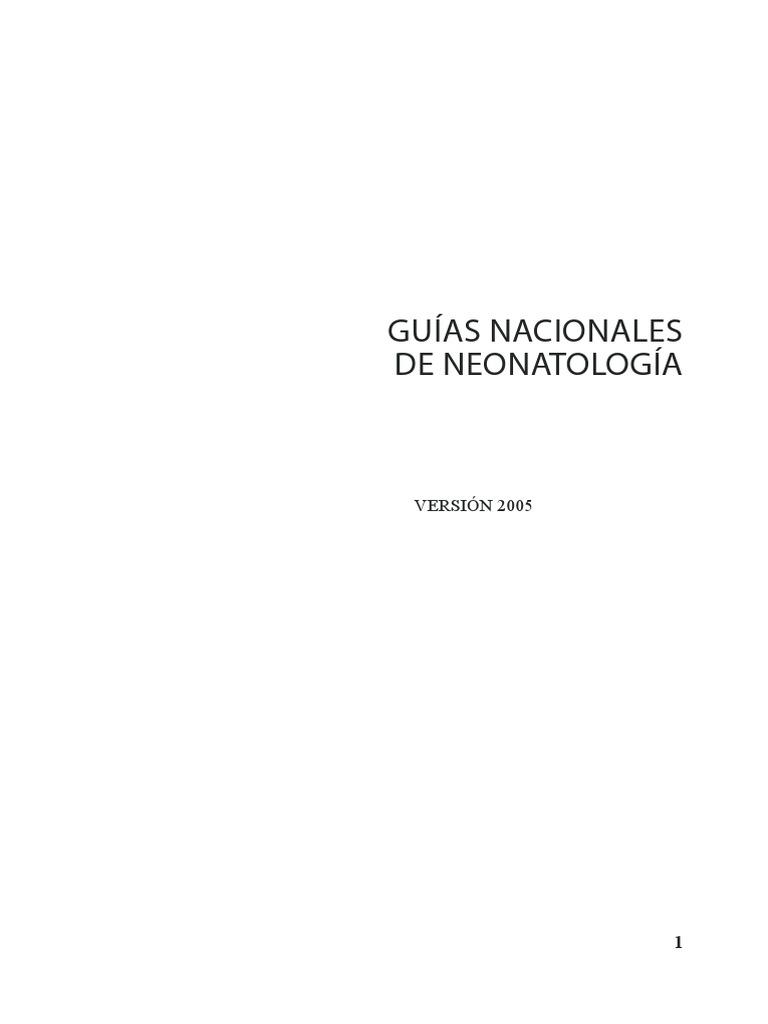 Guias Nacionales de Neonatoloía