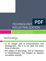 TECHNOLOGY AND INDUSTRIALIZATION