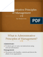 Administrative Principles of Management