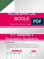 UNIDAD 4 Algebra de Boole Con Min y Maxterm
