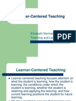 Learner Centered Teaching