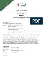 unit outline edfd547 447 sem2 2013