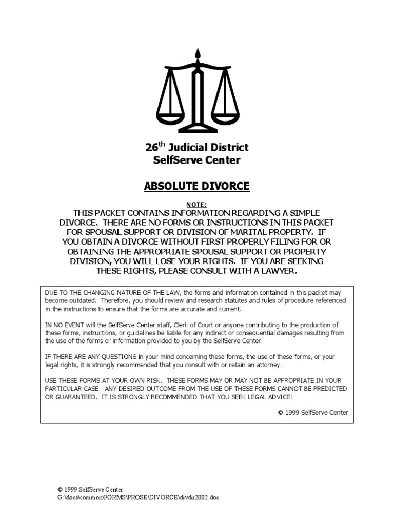 Aboslute divorce packet mecklengpdf service of process complaint solutioingenieria Gallery