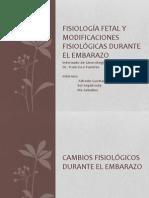 Fisio Materna y Fetal