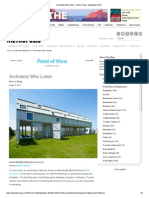 Architects Who Listen - Point of View - September 2013 2