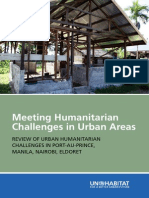 Meeting Humanitarian Challenges in Urban Areas