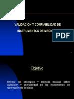 VALIDACIÓN Y CONFIABILIDAD 1