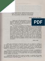 Los Metodos Estructuralistas en Algunas Ciencias Sociales