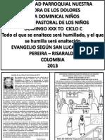 HOJITA EVANGELIO DOMINGO XXX TO C BN