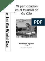 Mi participación en el mundial de Go Oza