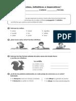 guía verbos imperativos e infinitivos