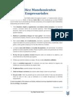 Diez Mandamientos Empresariales