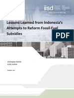 Lessons Indonesia Fossil Fuel Reform