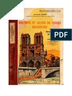 Leçons de Choses Religieuses (Notes Morales et Sociales) Chanoine Quinet