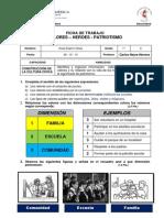 FICHA DE TRABAJO VALORES