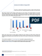 Eurekahedge September 2013 -  Hedge Fund Performance Commentary for the Month of August 2013
