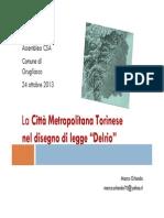 """La Città Metropolitana Torinese nel disegno di legge """"Delrio"""""""